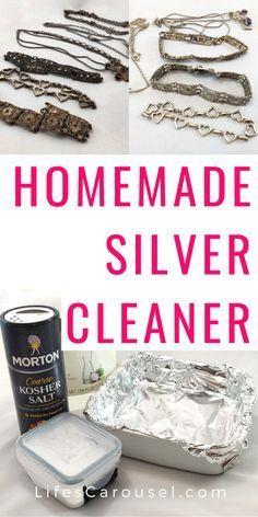 Homemade Silver Cleaner, Homemade Jewelry Cleaner, Silver Jewelry Cleaner, Cleaning Silver Jewelry, Baking Soda Shampoo, Baking Soda Uses, Keep Jewelry, Diy Jewelry, Clean Jewelry