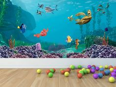 Disney  Finding Nemo . love this Mural Find it at www.mcphersongiftware.com.au