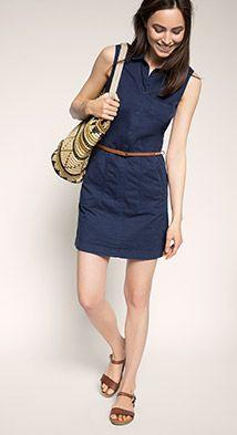 Collared dress w belt