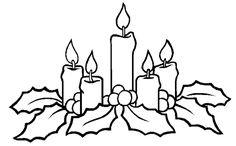 Printable Free Coloring Pages For Christmas Candles