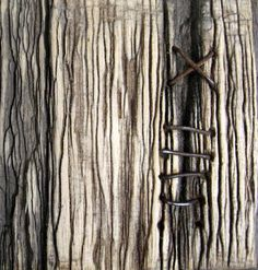 stitched wood by Robyn Gordon