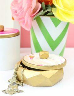 boîte à bijoux, cadeau fête des mères à fabriquer de ses propres mains, suggestion sympa