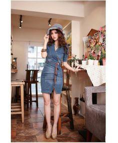 Promithi Fashion Womens Vintage Slim Fitted Bull-puncher Skirt Jean Denim Dress- http://www.amazon.com/dp/B00IRXIV3A/?tag=shops0d-20