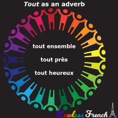 "Tout is a generally straightforward #French adverb. It's usually invariable, as all adverbs are EXCEPT under certain circumstances, as Section 3 (""Tout + adjective"") of the following lesson spells out. #learnfrench #lawlessfrench French Grammar, Teacher Boards, French Teacher, Adverbs, Learn French, French Adjectives, French Language, Singular And Plural, Plural Nouns"
