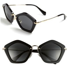 Geometric Sunglasses ($365) ❤ liked on Polyvore