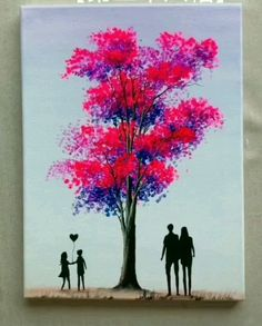 Love Tree Painting in 2020 Painting Tips and Tricks l Amazing Painting Creative Artwork l . Love Tree Painting in 2020 Painting Tips and Tricks l Amazing Painting Creative Artwork l . Simple Canvas Paintings, Small Canvas Art, Diy Canvas Art, Acrylic Painting Canvas, Easy Acrylic Paintings, Oil Pastel Paintings, Amazing Paintings, Amazing Artwork, Colorful Paintings