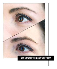 Eyebrow extensions: Real world experience and results Permanent Eyebrows, Permanent Makeup, Beauty Tutorials, Makeup Tutorials, Eyebrow Extensions, Makeup Studio, How To Apply Makeup, War Paint, Big Eyes