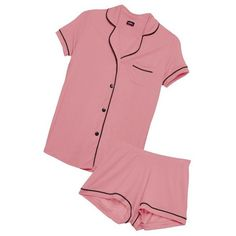 Cosabella BELLA SHORTSLEEVE & BOXER PJ SET ($122) ❤ liked on Polyvore featuring intimates, sleepwear, pajamas, short sleeve pajamas, short boxers, cosabella pajamas, short sleeve pajama set and cosabella