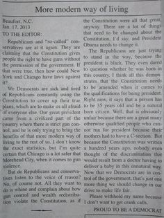 Political Activist and Amateur Journalist FAIL. Pay particular attention to the Natural Birth piece of the article! New Times, Carteret County, Liberal Logic, Liberal Left, Letter To The Editor, We The People, Stupid People, Rush Limbaugh, Running For President