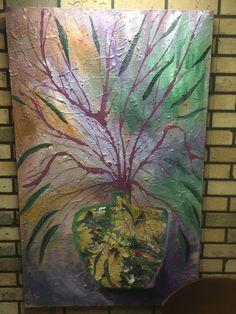Acrylic  Floral pot