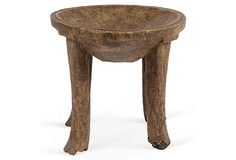 "Vintage Hand-Carved African Wood Stool Tanzania  1930 16""H x 17""D  ($1,150.00)  $565.00 OneKingsLane.com"