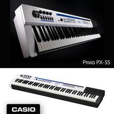 Se você leva o seu som para qualquer lugar, o Privia PX-5S é o seu PIANO. Ele pode ser ligado com fonte ou pilhas, por isso é uma ótima opção para apresentações ao ar livre.