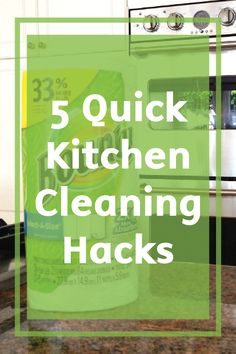 Sometimes you just don't have time to tidy your home! Thankfully these Quick Kitchen Cleaning Hacks featuring Bounty Paper Towels can help you get your space straighten out and sparkling clean in no time.