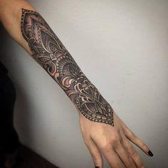 Tattoos - Black and grey ornamental forearm - 111626