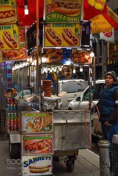 New York food cart...