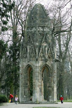 Bratislava-Original church tower, moved into Sad Janka Krala in 1880