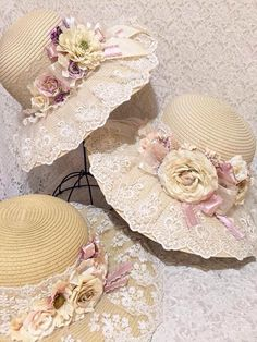 New Birthday Ideas Romantic Shabby Chic Ideas Tea Hats, Tea Party Hats, Shabby Chic Garden, Romantic Shabby Chic, Victorian Hats, Victorian Steampunk, Diy Hat, Fancy Hats, Summer Hats