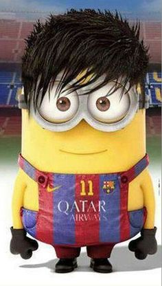 Dit is Neymar, hij voetbalt bij FC Barcelona en heeft rugnummer 11 Messi And Neymar, Lionel Messi, Good Soccer Players, Football Players, Cristiano Ronaldo, Minion Characters, Dani Alves, Minions Love, Plein Air
