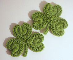 crochet shamrock pin pattern | Shamrock Coasters PDF Crochet Pattern INSTANT by HGSDesigns, $2.50