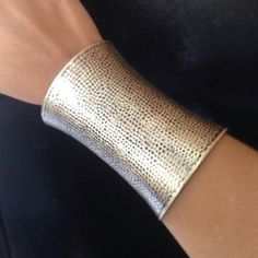 Brand New Bracelet cuff Brand new never worn. Silver with some black accents. Great for going out. Jewelry Bracelets
