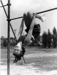 I could do all sorts of tricks on the monkey bars.