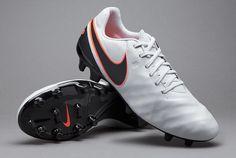c4bdffe49cd2e Nike Tiempo Genio II Leather FG - Pure Platinum Black Hyper Orange