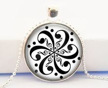 Handcrafted Treble and Bass Clef Mandala Pendant - Music Jewelry Jewellery Pendant- Gift for Music Lover Musician(China (Mainland))