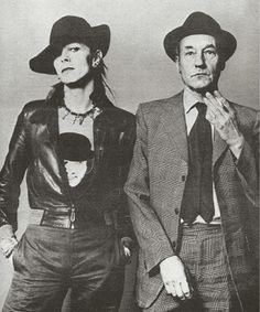 1973 - David Bowie and William Burroughs 70s (photo by Terry O'Neill).