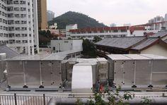 Impianto di aspirazione, filtrazione e abbattimento odori 40.000 mc/h- Cucina HONG KONG (macchine a tetto)