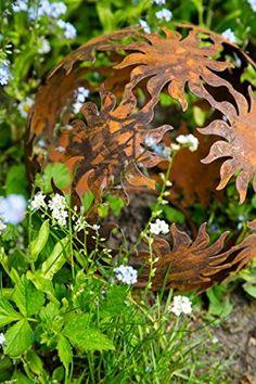 ginkgoblatt gartenstecker klein 15cm l 60cm in edelrost rost deko diy edelrost eisen garten. Black Bedroom Furniture Sets. Home Design Ideas