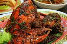 B lack pepper crab is one of chinese recipes. Mixed between the red color produced by the crab and black colors of black pepper into a si...