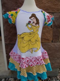Princess Belle Upcycle Dress
