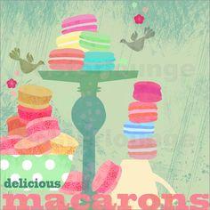 Poster delicious macarons