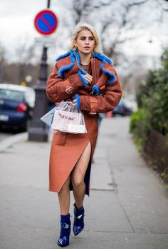 Paris Fashion Week  Womenswear street style.