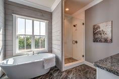 This listing is presented by Jessica Johnson      Real Estate Photos and Video by HomePixMedia.com Modern Farmhouse Bathroom, Modern Farmhouse Exterior, Farmhouse Decor, Diy Bathroom Decor, Small Bathroom, Bathroom Ideas, Stone Creek, Dining Room Hutch, Shower Remodel