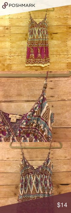 Forever 21 Flowy Top Forever 21 Flowy Top. Beads on the straps make for nice details.  This is a perfect Top for summer! Forever 21 Tops Blouses