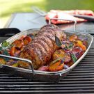 Grilled Pork Loin with Peaches