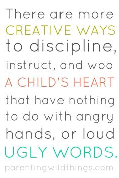 Disciplining children without yelling or physical punishment