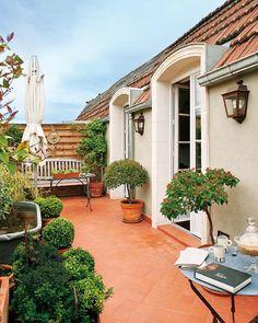 DESDE MY VENTANA | una terraza vintage.