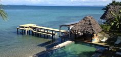 "Hotel l""Heure Bleue. Madagascar. Waterfront Bungalow with fridge, safe, wifi is 95 euro a day for two people."