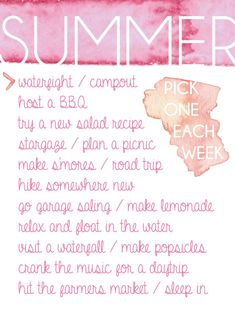 Summer To - Do List