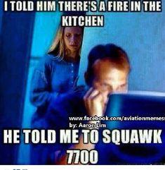 Aviation humor! Squawk 7700