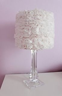 Oh, I have a lamp that is crying out for me to do this!  It wants to be glamorous and pretty, too!