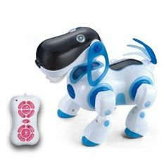 IR RC Smart Storytelling Sing Dance Walking Talking Dialogue Robot Dog pet Toy by DURHERM. $29.95. Fast forward, forward , fast backward, backward. Intelligent dog can sing, dance and any other full function. Show Time & Math Question & Story Telling & A/B/C Answer, Storytelling and so on. Cute Intelligence Robot Dog with infrared remote control. Can makes sounds to answer some math questions and other common knowledge. This is an intelligent toy with remote control. The intell...