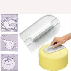 Fashion Cake Smoother Decorating Sugarcraft Fondant Gum Paste Polisher Mold Tool