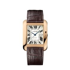 This is a modern day Tank watch made by Cartier. Cartier was making tank watches back in the Edwardian era as well. The watches were known for the lines and proportions that resembled tanks found on the battlefield. It is amazing to think the company is using the same military influences on their watches 100 years later!