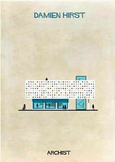 ARCHIST: Illustrations of Famous Art Reimagined as Architecture