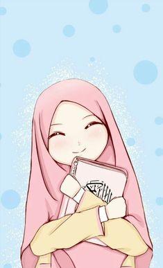 Hijab Cartoon, Cartoon Boy, Hijab Anime, Muslim Pictures, Hijab Drawing, Islamic Cartoon, Art Antique, Cute Cartoon Wallpapers, Anime Art Girl