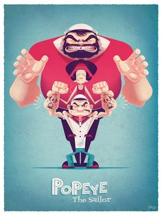 POPEYE 85TH EXHIBITION on Behance ★ Find more at http://www.pinterest.com/competing/