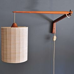 1950s Teak Articulate Wall Mount Reading Lamps 3